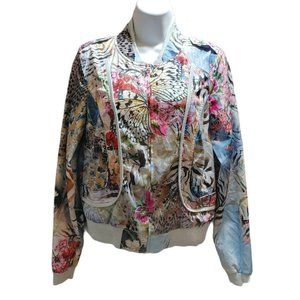 Alberto Makali Floral Butterfly Graphic Jacket